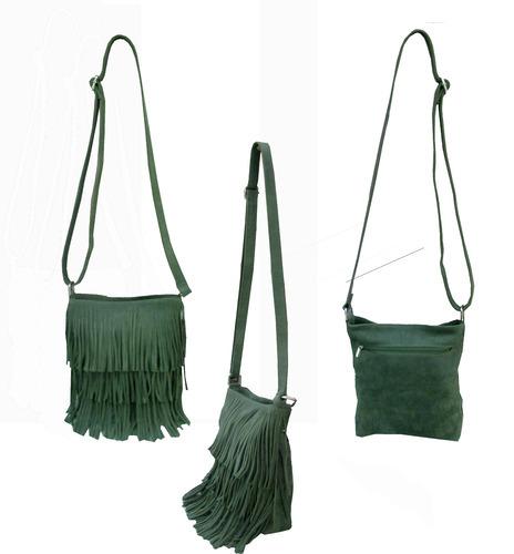 Leather Fringe Sling Bag