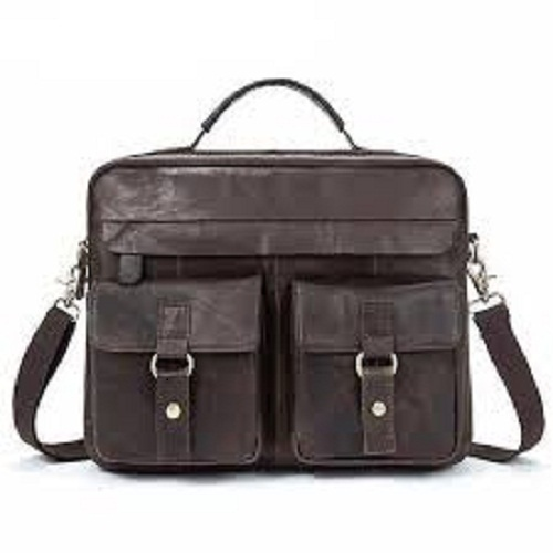 Stylish Leather Messenger Bag