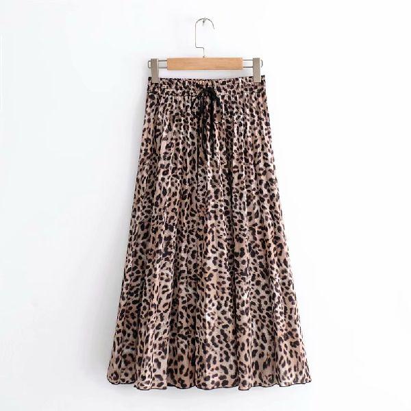 Ladies Printed Long Skirt 01