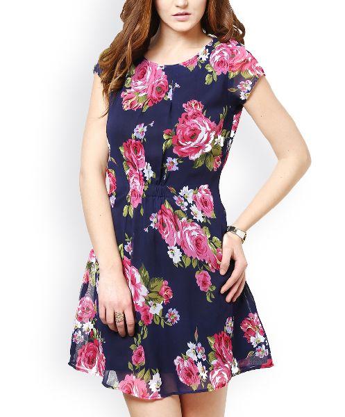 Ladies Printed One Piece Dress 03