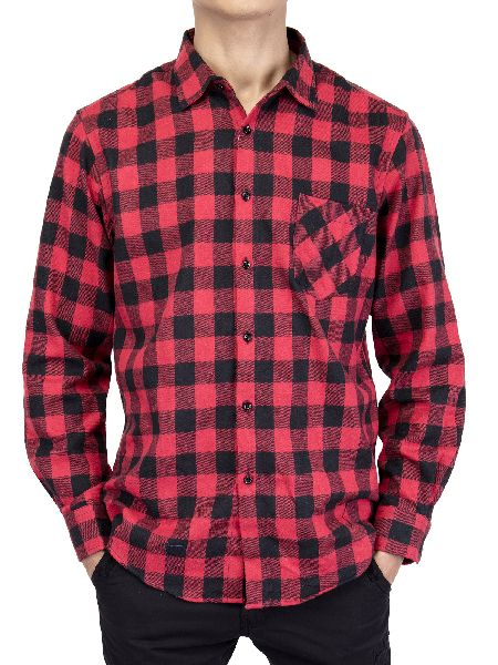 Mens Checkered Full Sleeve Shirt 01