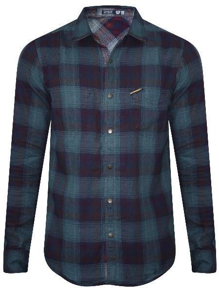 Mens Checkered Full Sleeve Shirt 03