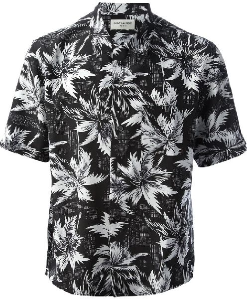 Mens Printed Half Sleeve Shirt 02