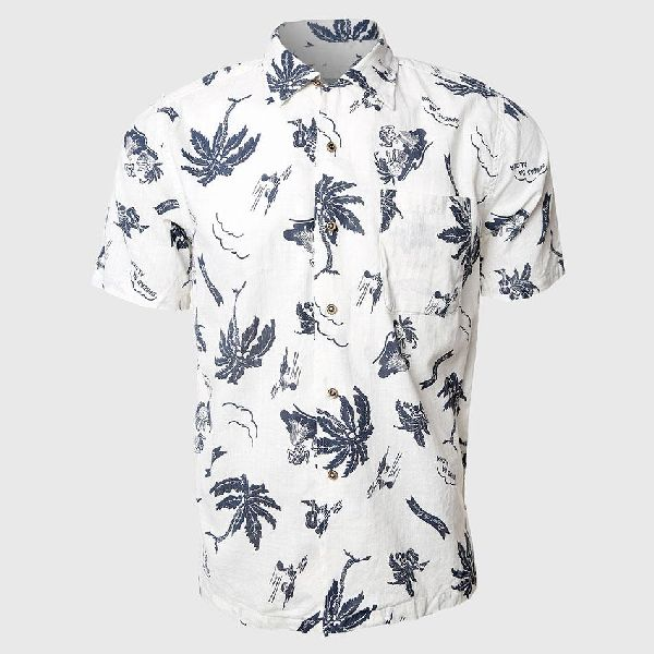 Mens Printed Half Sleeve Shirt 04