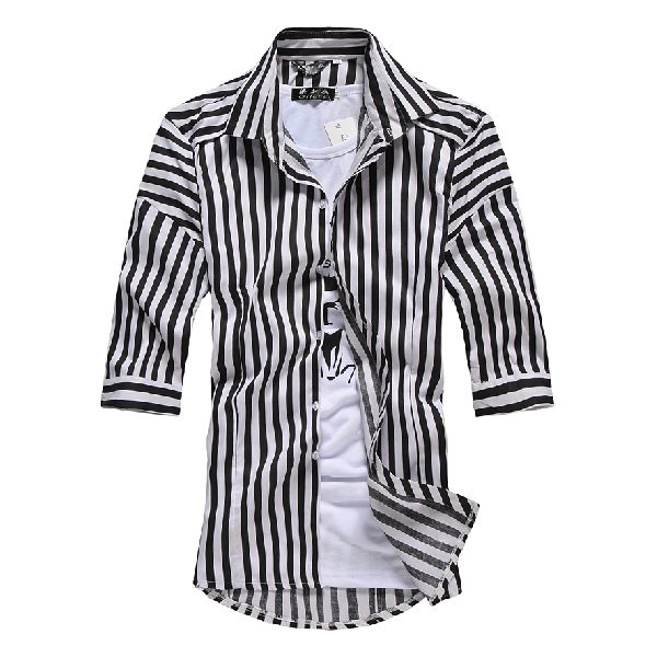Mens Striped Full Sleeve Shirts
