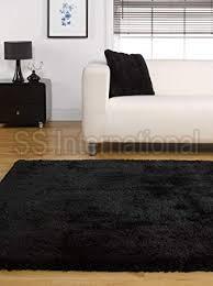 Black Shaggy Rugs