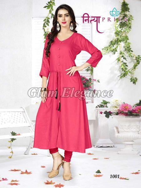 Nityapriya Collection Rayon Kurtis