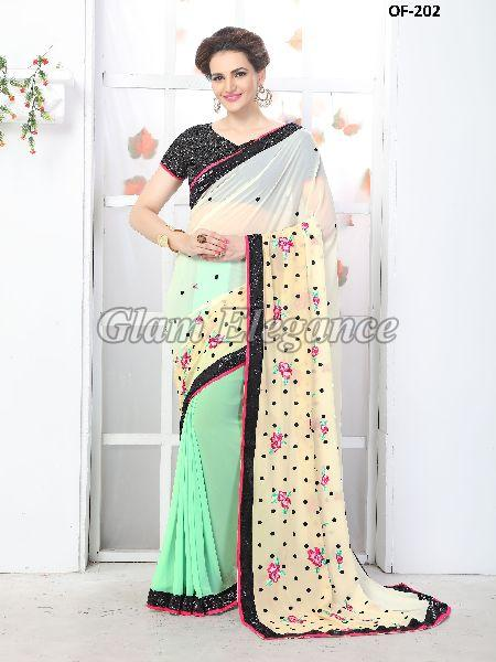 OF-202 Rubyza-7 Georegette Sarees