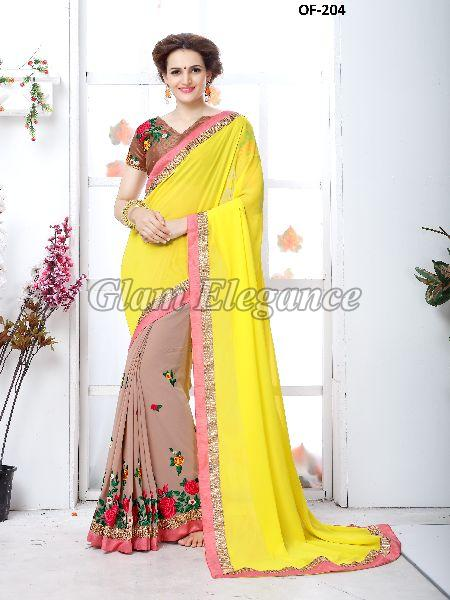 OF-204 Rubyza-7 Georegette Sarees
