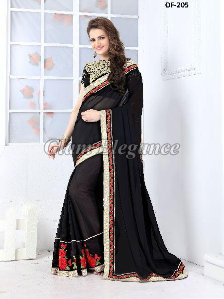 OF-205 Rubyza-7 Georegette Sarees