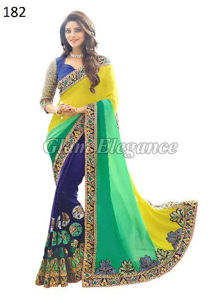 OF182 Rubyza-4 Georegette Sarees