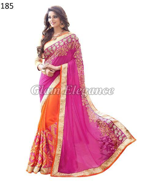 OF185 Rubyza-4 Georegette Sarees