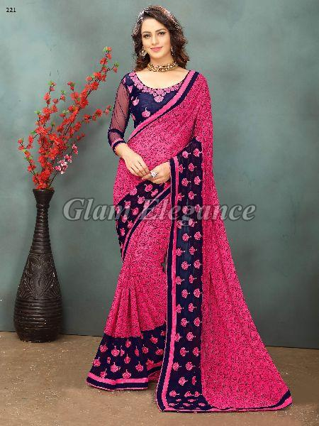 OF221_1 Rubyza-2 Georegette Sarees
