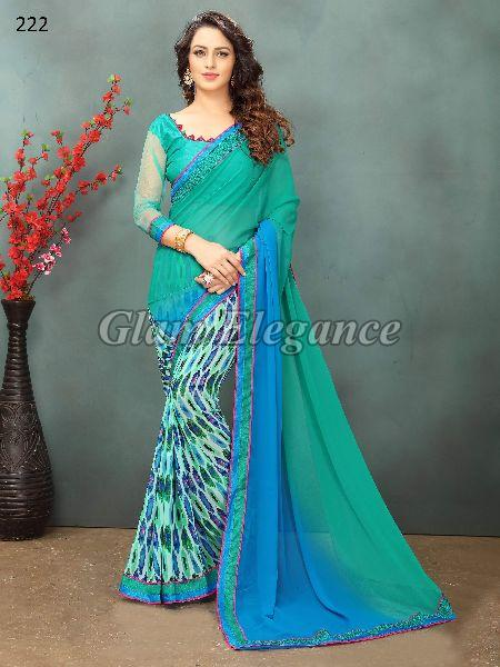 OF222_1 Rubyza-2 Georegette Sarees