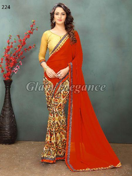 OF224_ Rubyza-2 Georegette Sarees