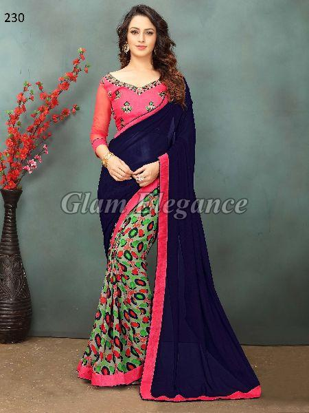 OF230_1 Rubyza-2 Georegette Sarees
