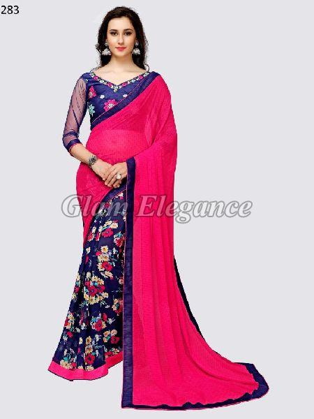 OF283_1 Rubyza-3 Georegette Sarees