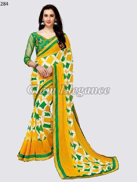 OF284_1 Rubyza-3 Georegette Sarees