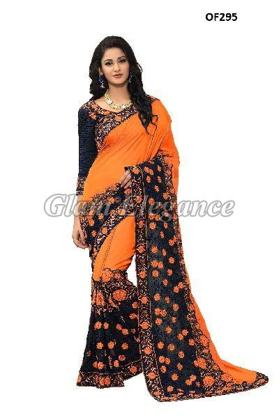 OF295_1 Rubyza Hit Color Designer Sarees
