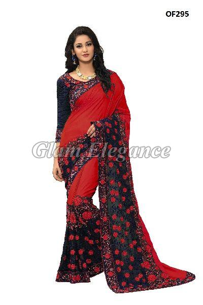 OF295_3 Rubyza Hit Color Designer Sarees