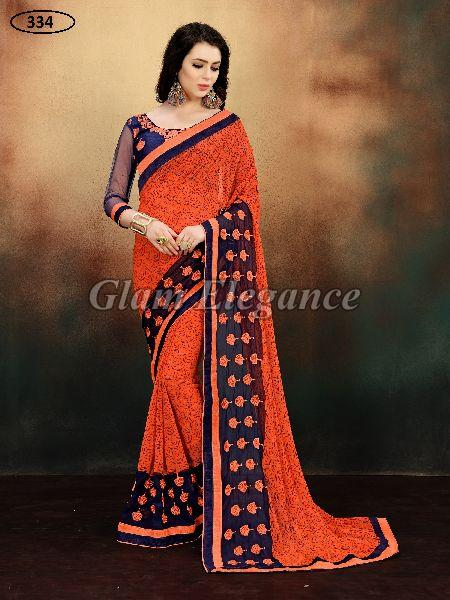 OF334 Rubyza-9 Georegette Sarees
