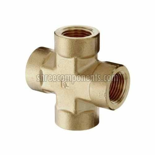 Brass Pipe Cross