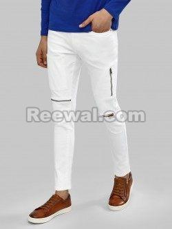 Slim Fit Zipper Jeans