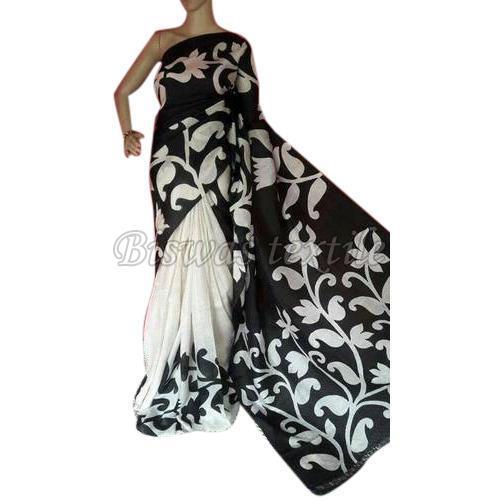 Hand Painted Tussar Silk Saree