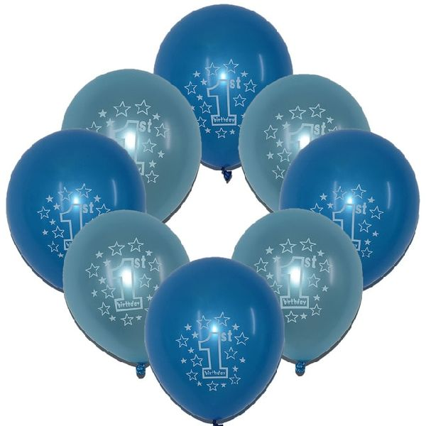 Sky Blue Printed Balloons