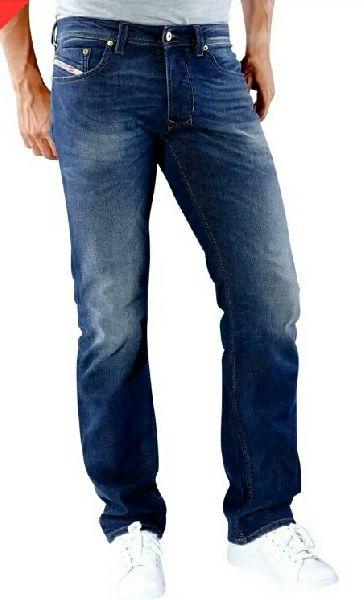 Mens Faded Denim Jeans
