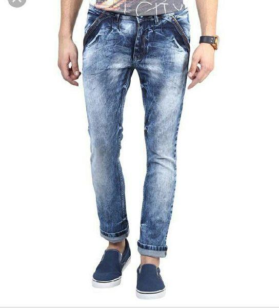 Mens Narrow Bottom Denim Jeans