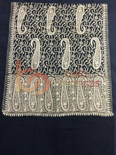 Wool Kashmiri Ari Embroidery Shawl