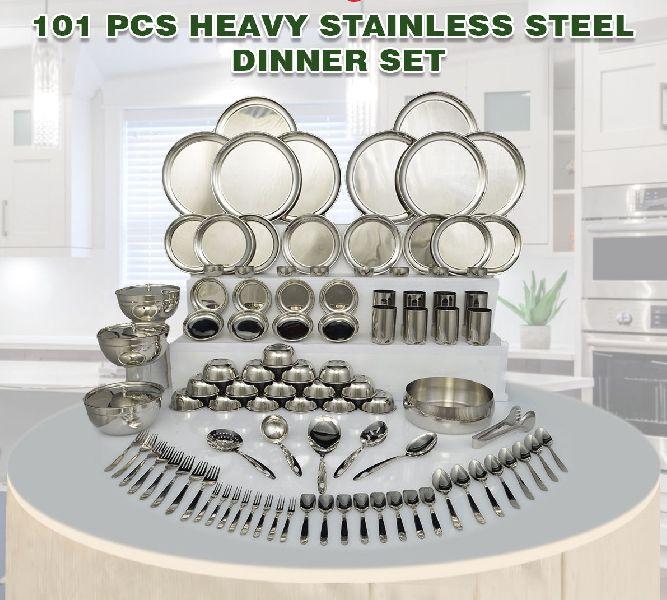 101 Pcs Heavy Steel Dinner Set