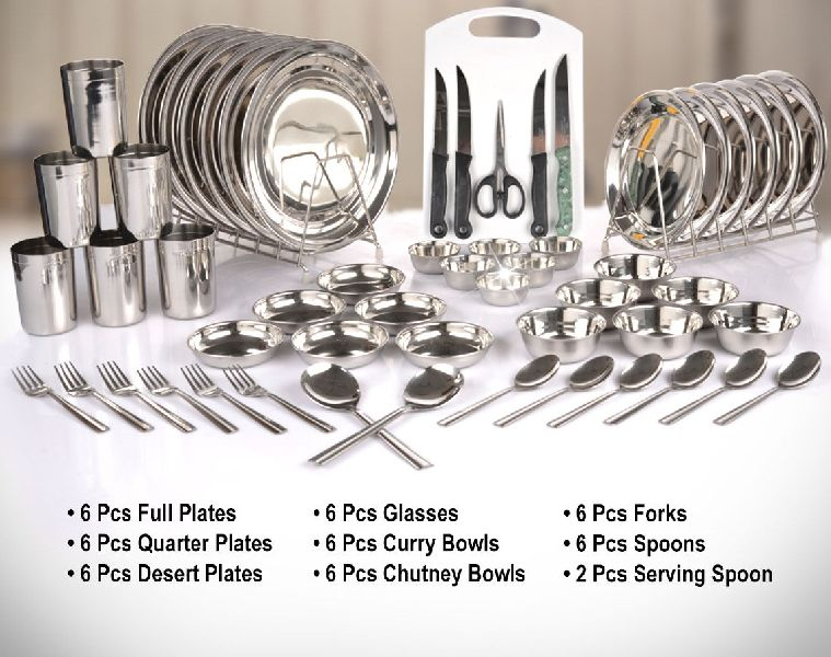 50 Pcs Dinner Set With Chopping Board