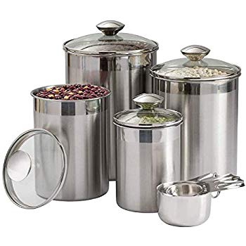 Canisters with Glass Covers