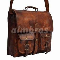 Boys Leather School Bag