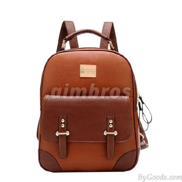 Girls Leather School Bag