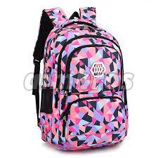 Girls Printed School Bag