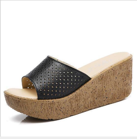 Casual Wedge Heel Slippers