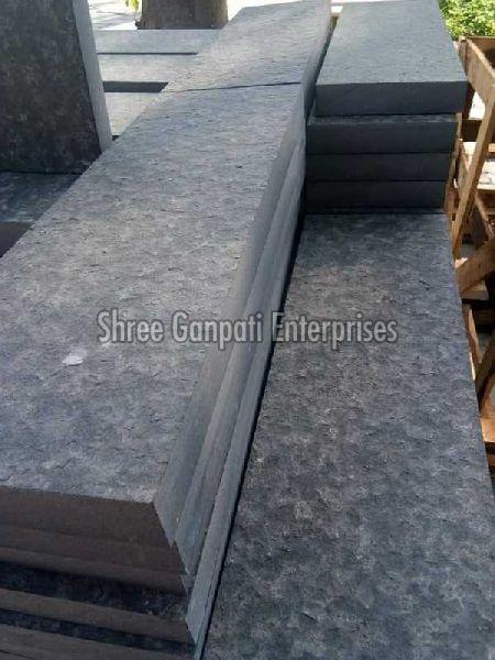 Black Basalt Flame Leather Tiles