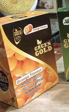 Green Gold Orange Flavoured Natural Leaf Rolls