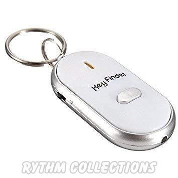 LED Light Lost Key Finder Locator Whistle Sound Sensor Keychain