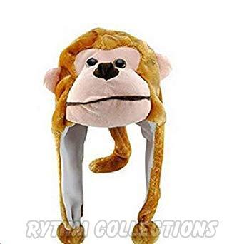 Monkey Face Shaped Warm Stuffed Child Winter Cap