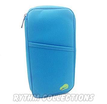 Multipocket Passport Organiser Wallet - Blue