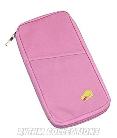 Multipocket Passport Organiser Wallet--Pink