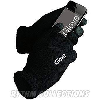 Winter Touch Black Sensitive Gloves