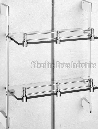 3012 Front Glass Double Shelf