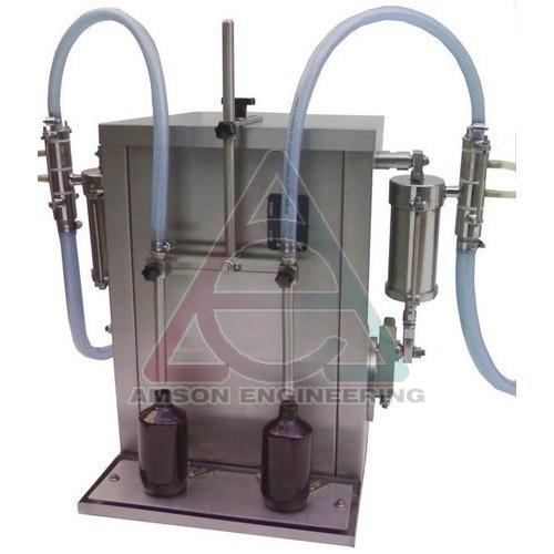 Two Head Automatic Linear Piston Filling Machine