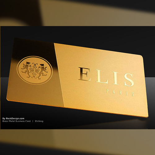 Gold Plated Metal Business Cards