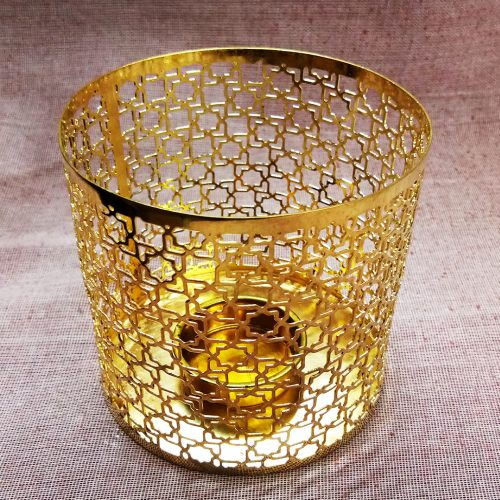 Gold Plated Tealight Candle Holder 01